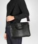 nero intrecciato nappa briefcase Full Out Portrait