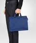BOTTEGA VENETA COBALT BLUE INTRECCIATO BRIEFCASE Business bag Man ap