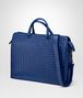 BOTTEGA VENETA COBALT BLUE INTRECCIATO BRIEFCASE Business bag Man rp