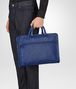 BOTTEGA VENETA COBALT BLUE INTRECCIATO CALF BRIEFCASE Business bag Man ap