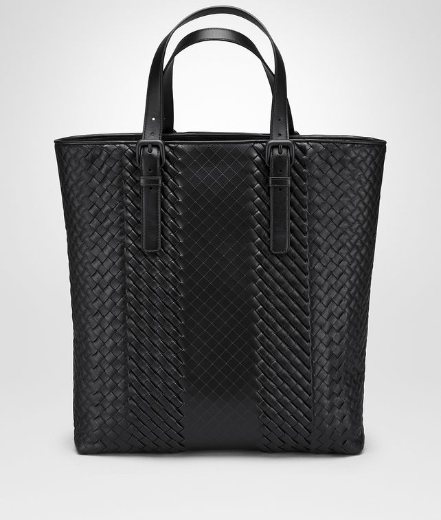 BOTTEGA VENETA NERO INTRECCIATO IMPERATORE CALF AQUATRE BAG Tote Bag Man fp