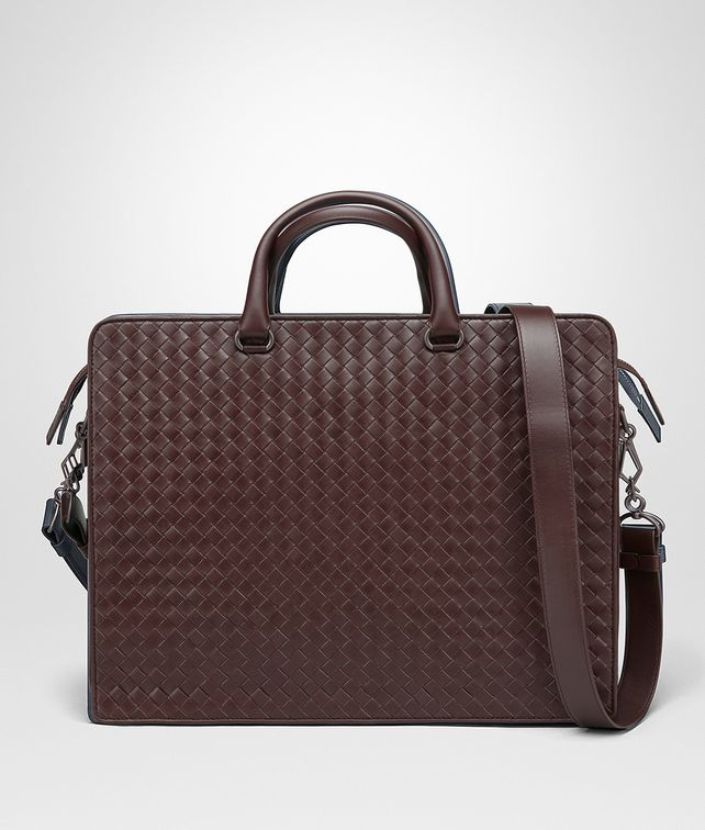 BOTTEGA VENETA DARK BAROLO INTRECCIATO BRIEFCASE Business bag [*** pickupInStoreShippingNotGuaranteed_info ***] fp