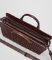 dark barolo intrecciato briefcase Back Portrait