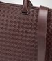 dark barolo intrecciato briefcase Back Detail Portrait