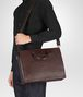 dark barolo intrecciato briefcase Full Out Portrait