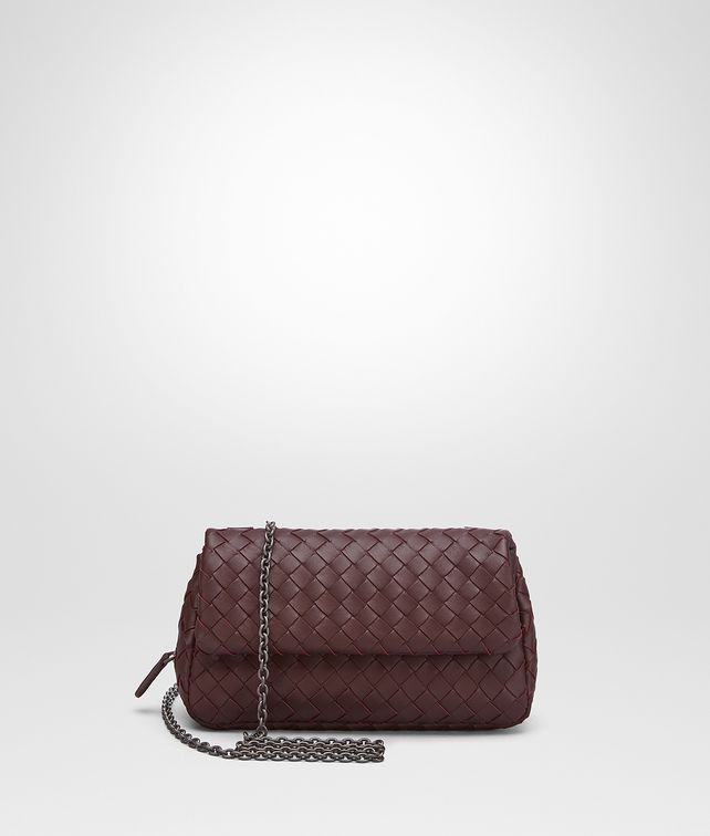 BOTTEGA VENETA BORSA MESSENGER MINI IN INTRECCIATO NAPPA BAROLO SCURO Borsa a Tracolla [*** pickupInStoreShipping_info ***] fp