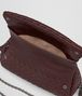 dark barolo intrecciato nappa mini messenger bag Back Portrait
