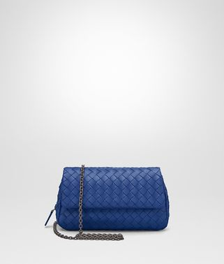 COBALT INTRECCIATO NAPPA MINI MESSENGER BAG