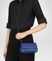 BOTTEGA VENETA COBALT INTRECCIATO NAPPA MINI MESSENGER BAG Crossbody bag Woman ap