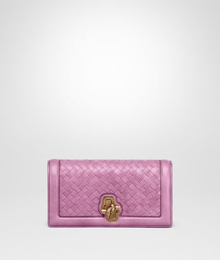 KNOT CLUTCH AUS INTRECCIATO NAPPA TOP IN TWILIGHT