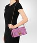 knot clutch in intrecciato nappa twilight Immagine intera