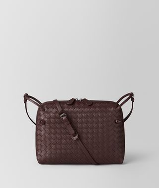 DARK BAROLO INTRECCIATO NAPPA SMALL MESSENGER BAG