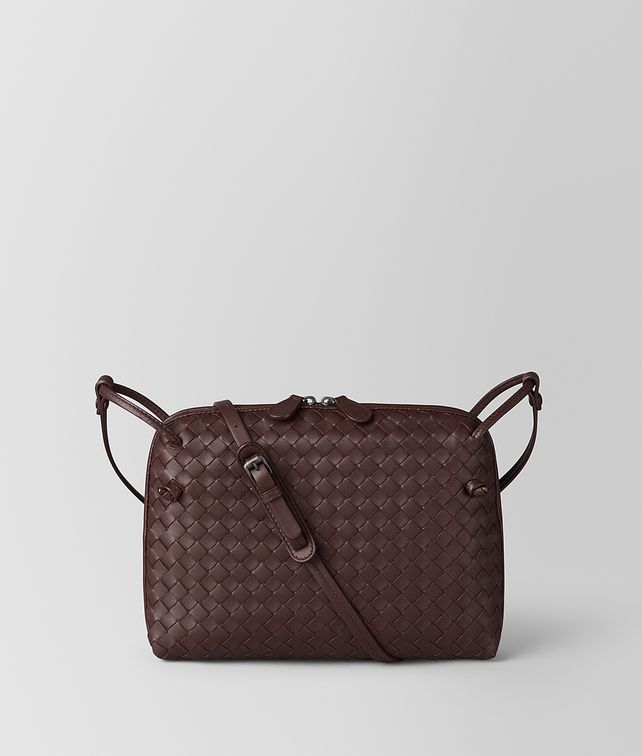 BOTTEGA VENETA DARK BAROLO INTRECCIATO NAPPA NODINI BAG Crossbody bag Woman fp