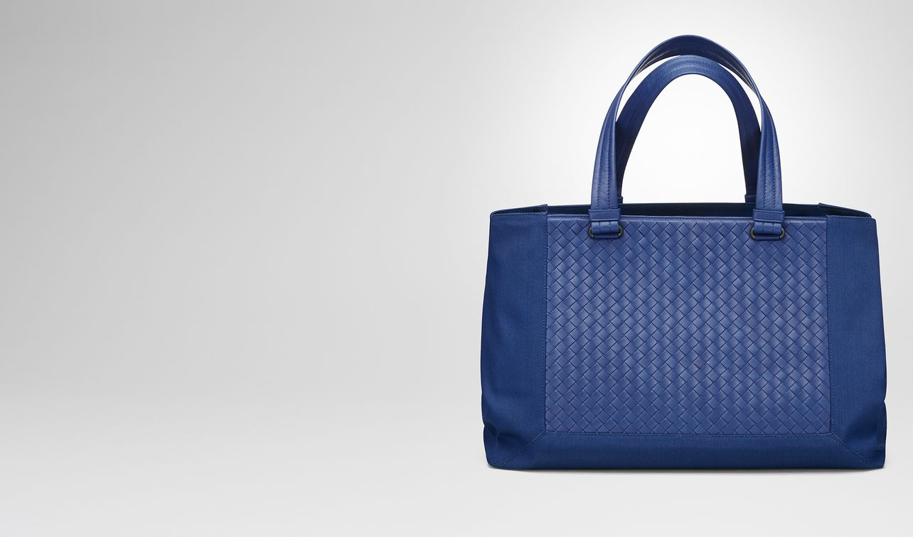 cobalt blue canvas tote landing