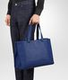 BOTTEGA VENETA COBALT BLUE CANVAS TOTE TOTE BAG Man lp