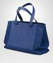 BOTTEGA VENETA COBALT BLUE CANVAS TOTE TOTE BAG Man rp