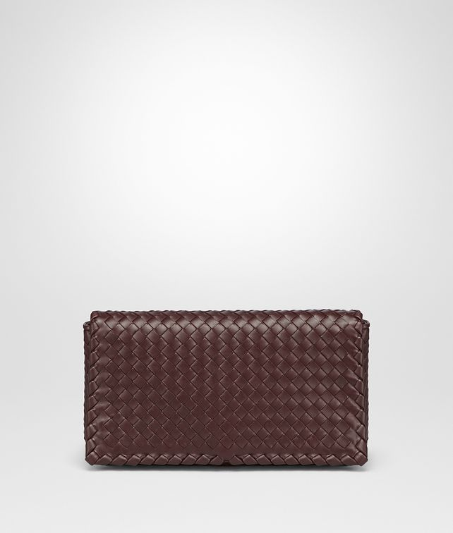 BOTTEGA VENETA DARK BAROLO INTRECCIATO NAPPA MEDIUM CLUTCH Clutch Woman fp