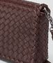 dark barolo intrecciato nappa medium clutch  Back Detail Portrait