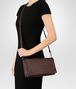 dark barolo intrecciato nappa medium clutch  Full Out Portrait