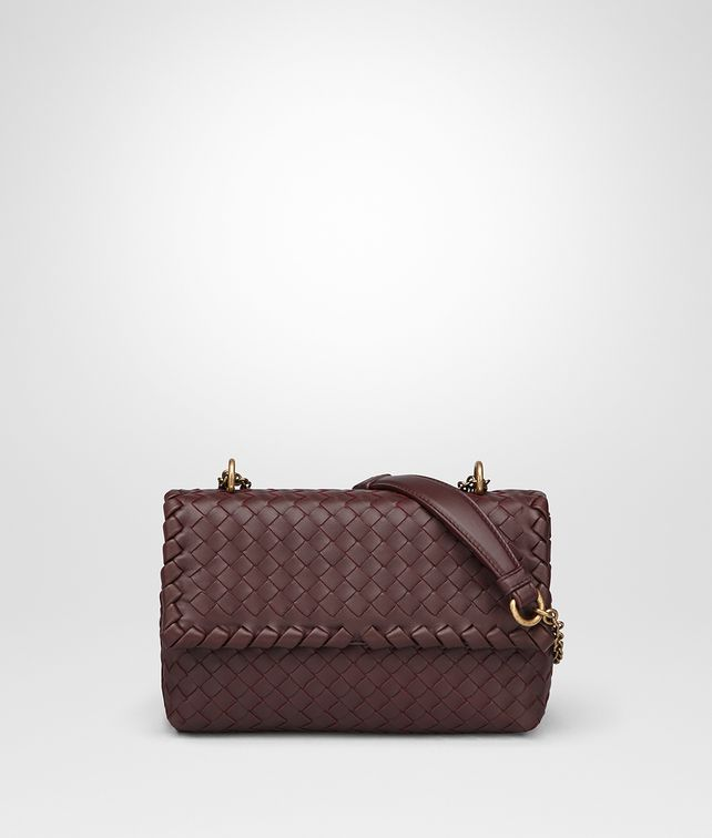 BOTTEGA VENETA DARK BAROLO INTRECCIATO NAPPA BABY OLIMPIA BAG Shoulder Bag [*** pickupInStoreShipping_info ***] fp