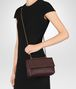 BOTTEGA VENETA DARK BAROLO INTRECCIATO NAPPA BABY OLIMPIA BAG Shoulder Bag Woman lp