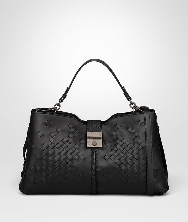 BOTTEGA VENETA NERO NAPPA LARGE NAPOLI BAG Top Handle Bag Woman fp