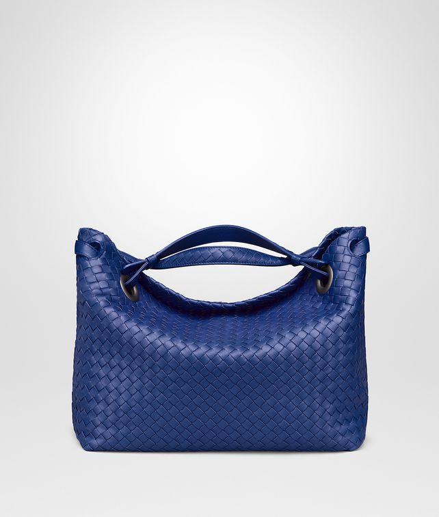 BOTTEGA VENETA COBALT INTRECCIATO NAPPA MEDIUM GARDA BAG Shoulder Bag Woman fp