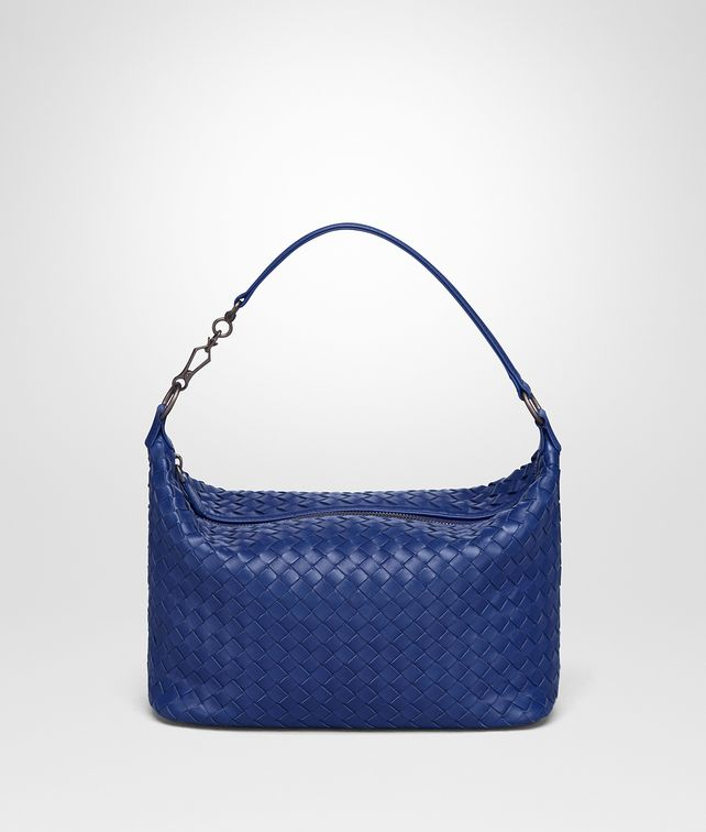 BOTTEGA VENETA COBALT INTRECCIATO NAPPA SMALL SHOULDER BAG Shoulder Bag Woman fp