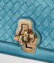BOTTEGA VENETA AQUA INTRECCIATO NAPPA TOP KNOT CLUTCH Clutch Woman ep