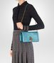 BOTTEGA VENETA AQUA INTRECCIATO NAPPA TOP KNOT CLUTCH Clutch Woman lp