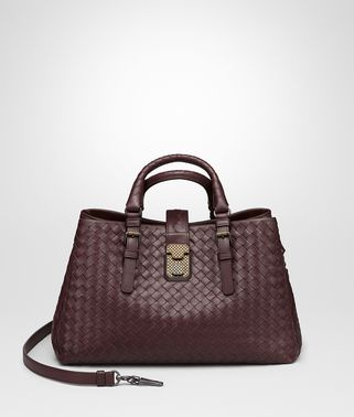 DARK BAROLO INTRECCIATO CALF SMALL ROMA BAG