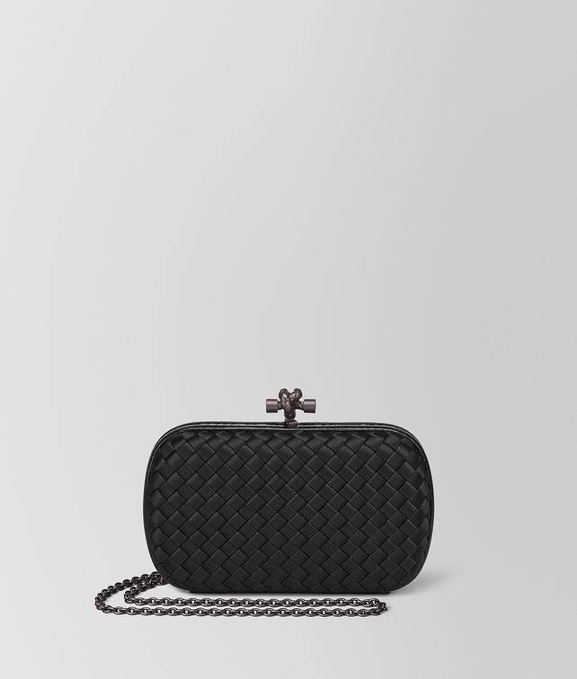 cf5156c71590 BOTTEGA VENETA NERO INTRECCIATO IMPERO CHAIN KNOT Clutch       pickupInStoreShipping info