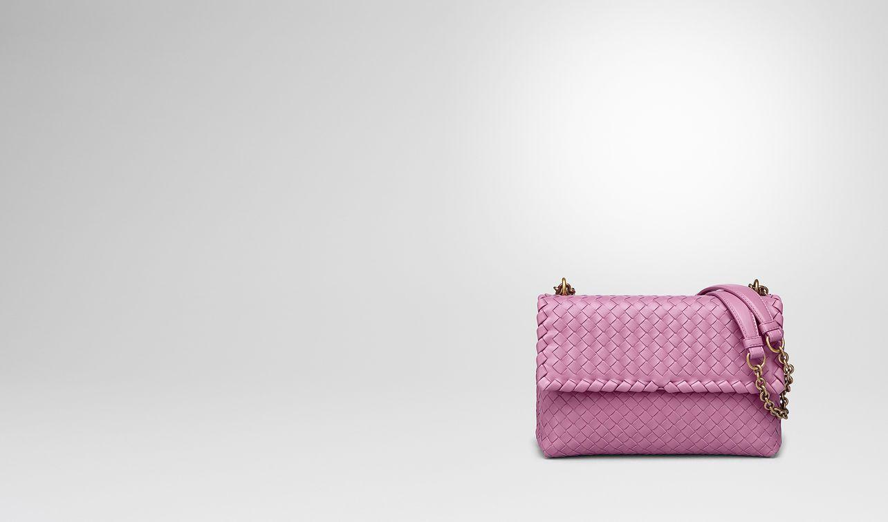 twilight Intrecciato nappa small olimpia bag - Pink & Purple Bottega Veneta yrl1J8oa