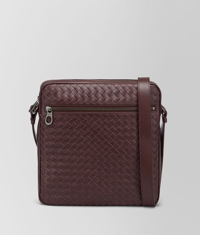 BOTTEGA VENETA DARK BAROLO INTRECCIATO MESSENGER BAG Messenger Bag [*** pickupInStoreShippingNotGuaranteed_info ***] fp