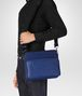 cobalt blue canvas messenger bag Front Detail Portrait