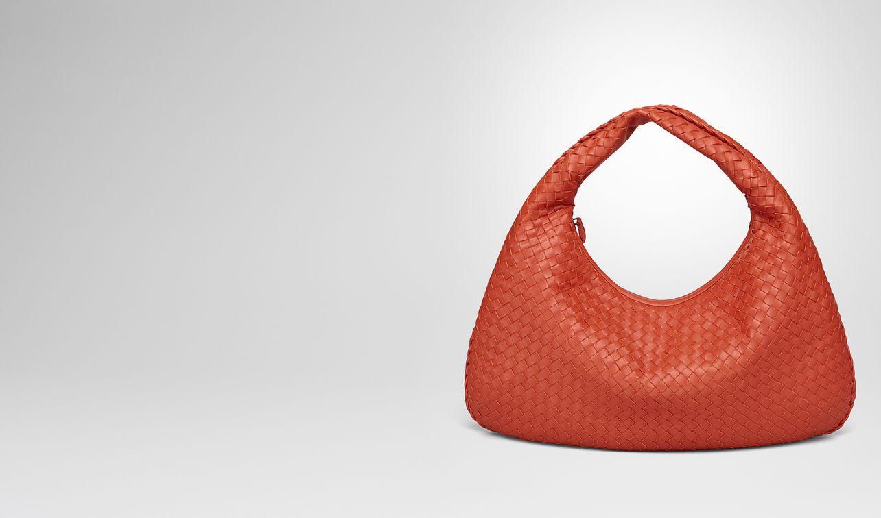terracotta intrecciato nappa large veneta bag landing