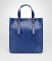 BOTTEGA VENETA COBALT BLUE INTRECCIATO AQUATRE BAG Tote Bag Man fp