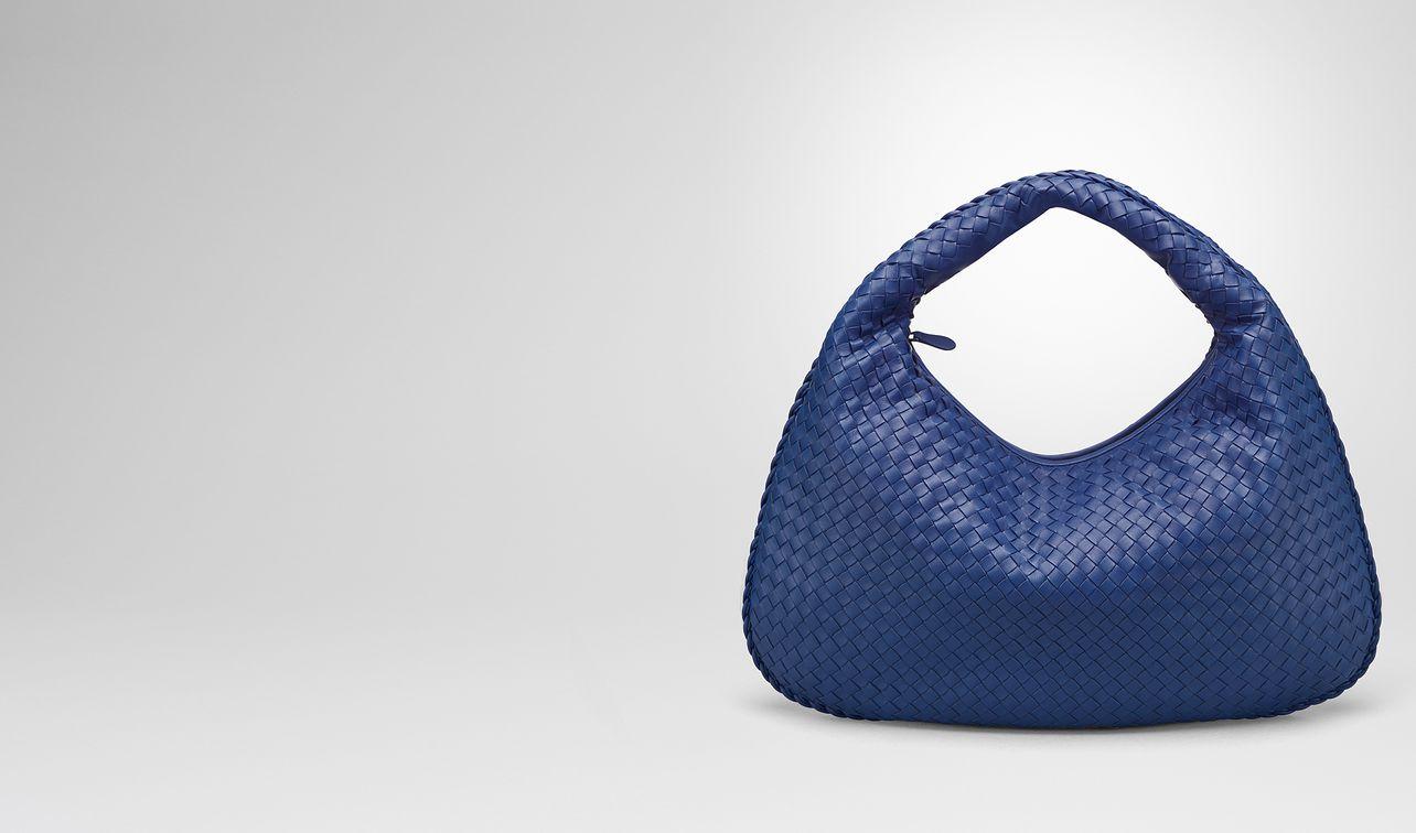 cobalt intrecciato nappa large veneta bag landing