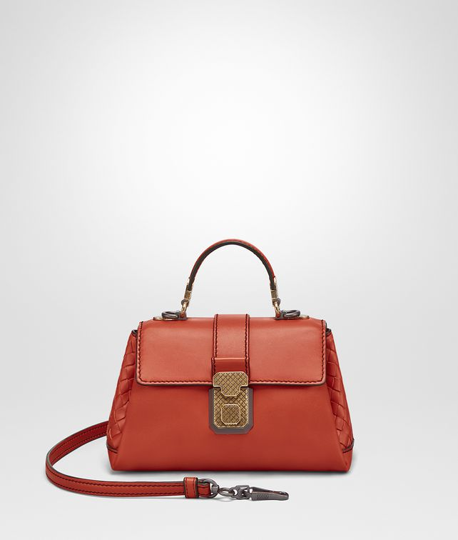 BOTTEGA VENETA TERRACOTTA CALF MINI PIAZZA BAG Top Handle Bag [*** pickupInStoreShipping_info ***] fp