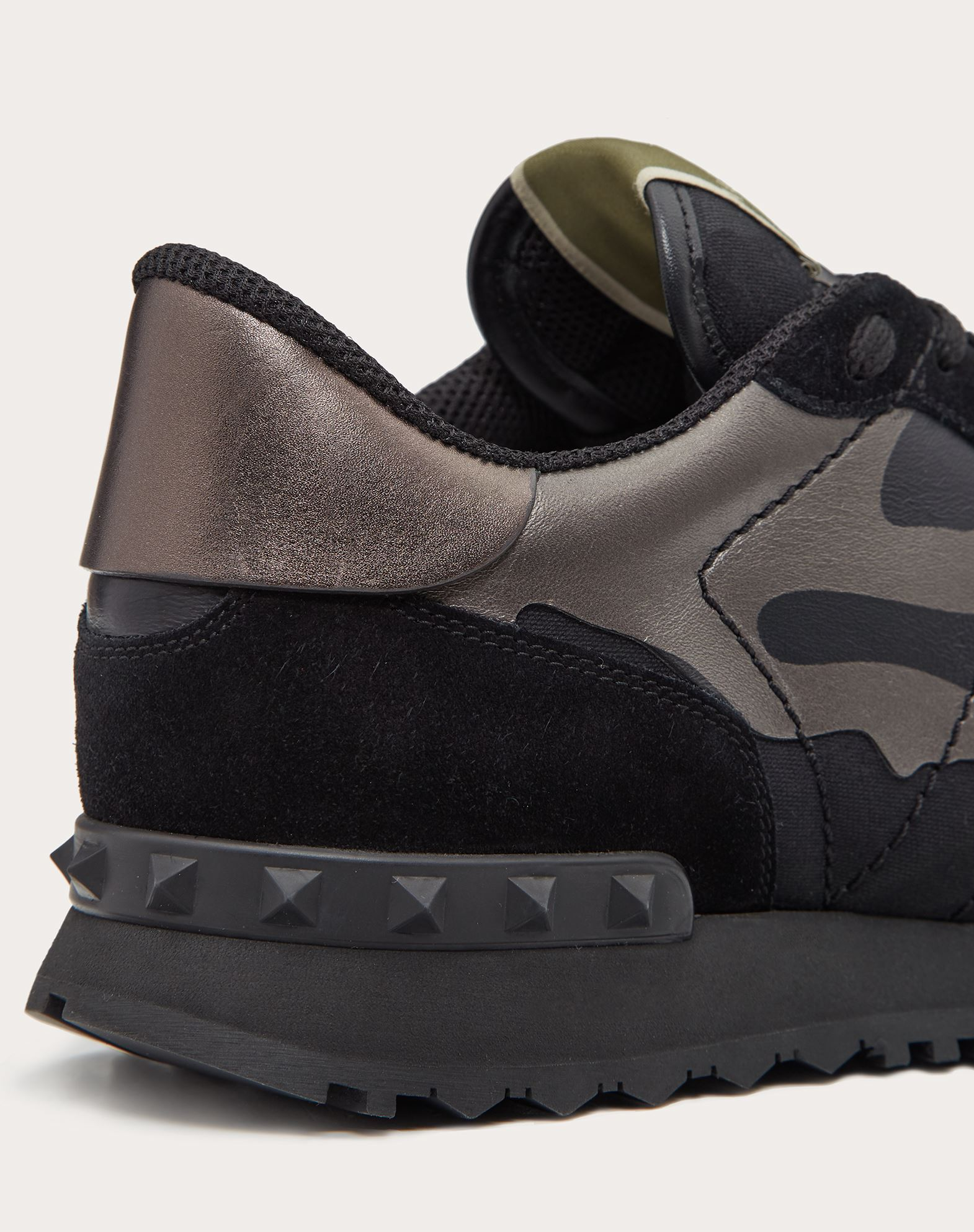 VALENTINO GARAVANI UOMO Camouflage Noir Rockrunner 运动鞋 LOW-TOP SNEAKERS U a
