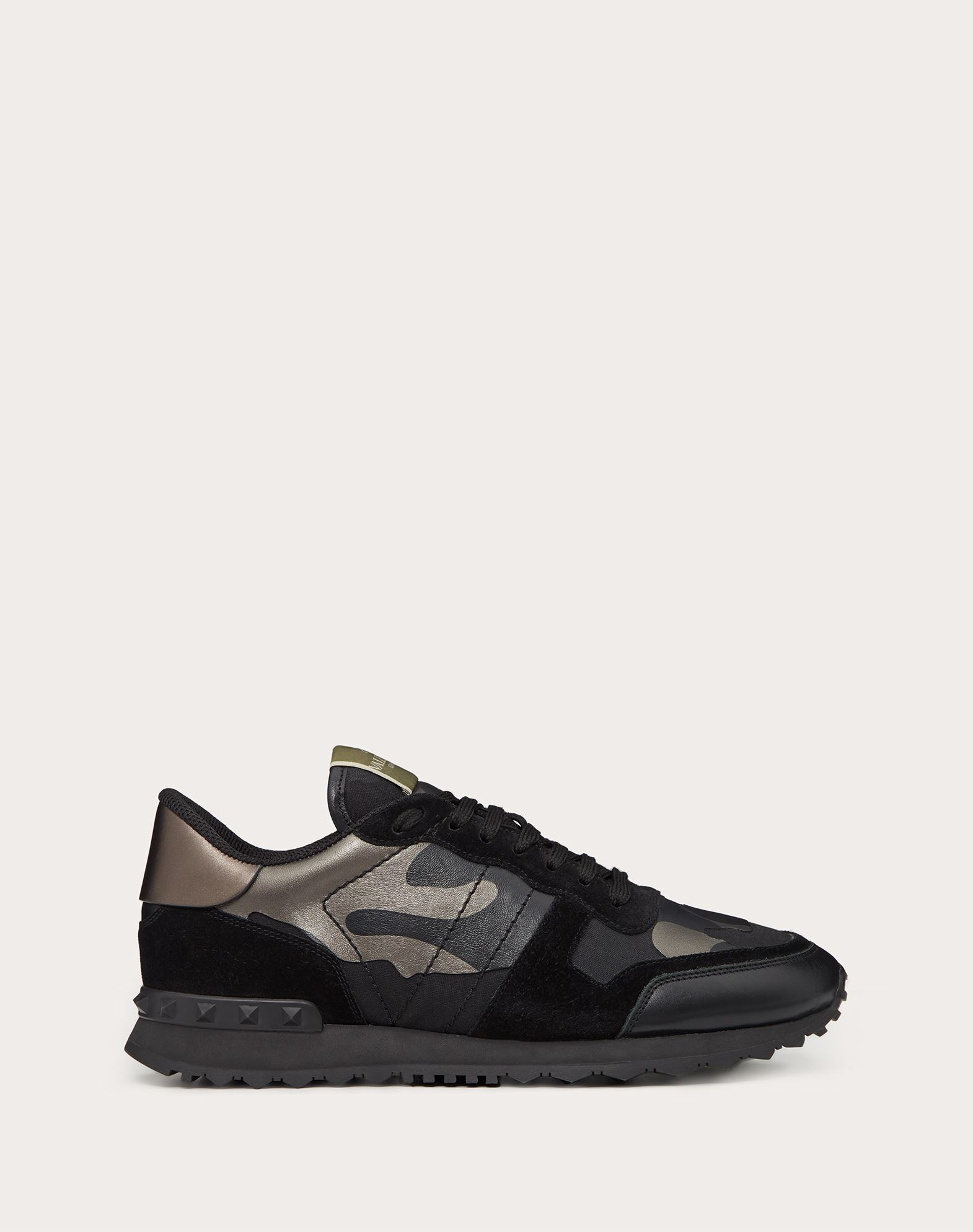 VALENTINO GARAVANI UOMO Camouflage Noir Rockrunner 运动鞋 LOW-TOP SNEAKERS U f