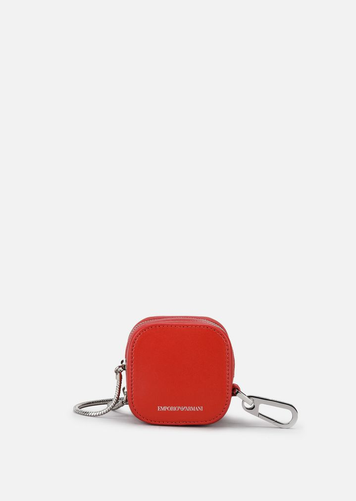 d3510b0186 SMOOTH LEATHER MINI CROSS-BODY BAG WITH SPRING CLIP AND CHAIN ...