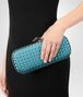 BOTTEGA VENETA AQUA INTRECCIATO IMPERO STRETCH KNOT Clutch Woman ap