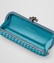 BOTTEGA VENETA AQUA INTRECCIATO IMPERO STRETCH KNOT Clutch Woman dp