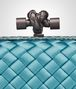 BOTTEGA VENETA AQUA INTRECCIATO IMPERO STRETCH KNOT Clutch Woman ep