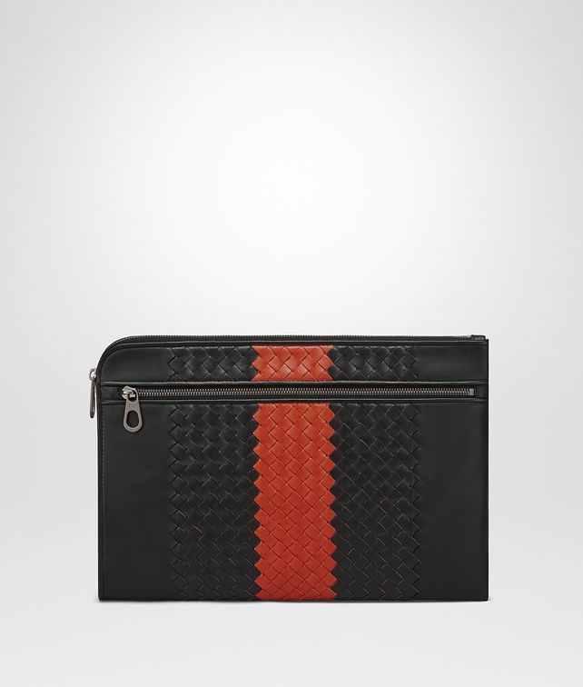 BOTTEGA VENETA NERO TERRACOTTA INTRECCIATO NAPPA DOCUMENT CASE Document case Man fp