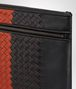 BOTTEGA VENETA NERO TERRACOTTA INTRECCIATO NAPPA DOCUMENT CASE Small bag Man ep
