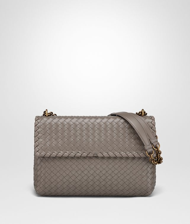 0506a2764b BOTTEGA VENETA STEEL INTRECCIATO NAPPA MEDIUM OLIMPIA BAG Shoulder Bag       pickupInStoreShipping info