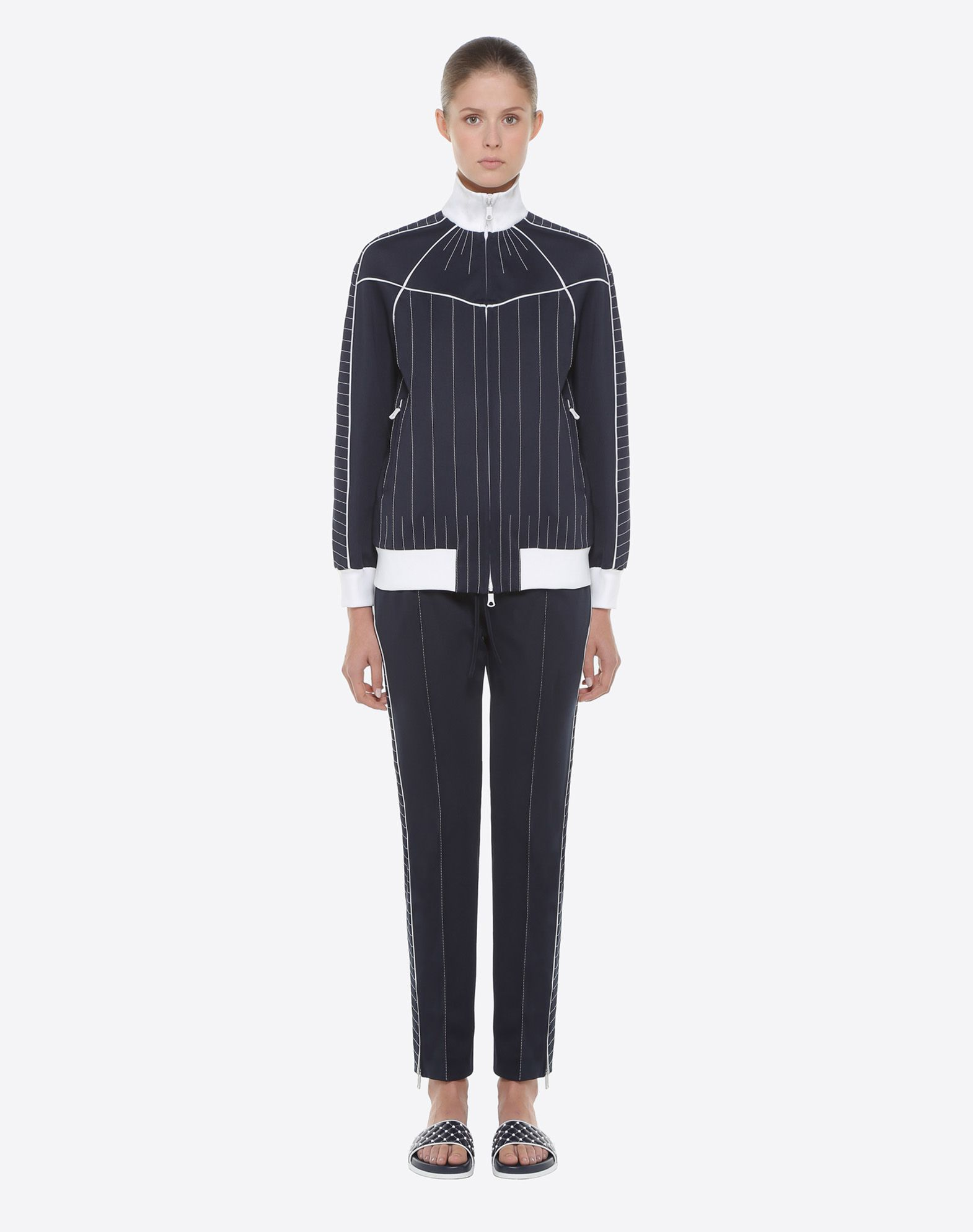 VALENTINO Techno Jersey Trousers Trousers D r