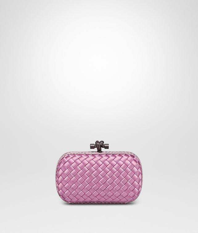 BOTTEGA VENETA TWILIGHT INTRECCIATO IMPERO KNOT Clutch Woman fp